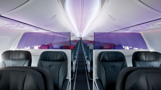 Front View Of Virgins Business Class Seats