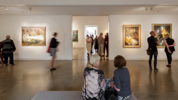 Arthur Boyd: Brides Installation view at Heide Museum of Modern Art.