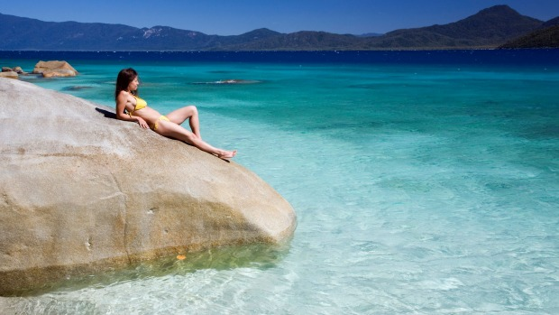 No nudes is good news for families on Fitzroy Island's Nudey Beach.