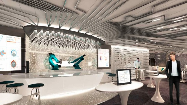 Futuristic experience: The Bionic Bar.