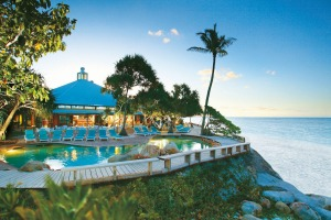 The pool at Heron Island Resort.  The 109-room resort is one of the longest-running in Australia.
