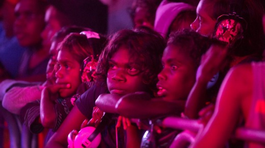 A spellbound audience at the annual Barunga Festival.