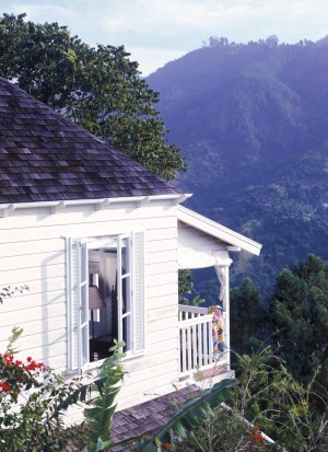 Strawberry Hill  cottages sit in the Blue Mountains, high above the Jamaican capital of Kingston.