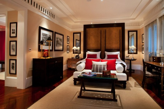 The East Borneo bedroom at 137 Pillars House.