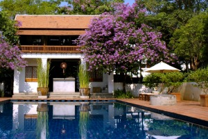 Rachamankha's private pool and spa area.