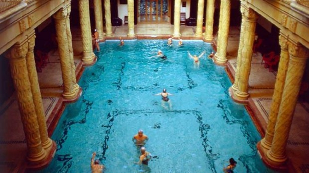 The Gellert Hotel thermal baths in Budapest.