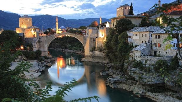 The old bridge in Mostar, Bosnia and Herzegovina.
