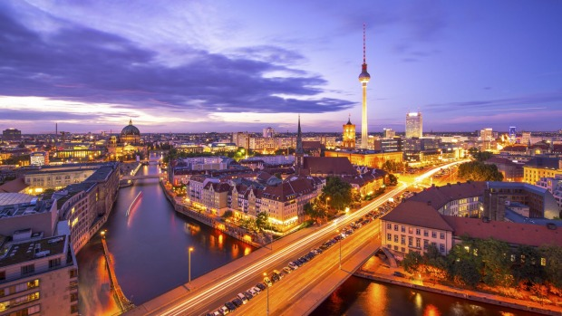 The Spree River in Berlin, Germany.
