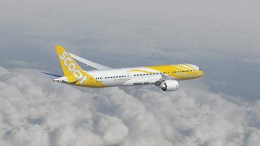 Scoot's Boeing 787-9 Dreamliner.