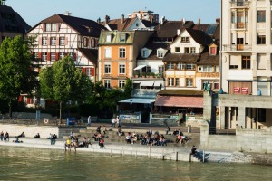 A river runs through it: The Rhine in beautiful Basel.