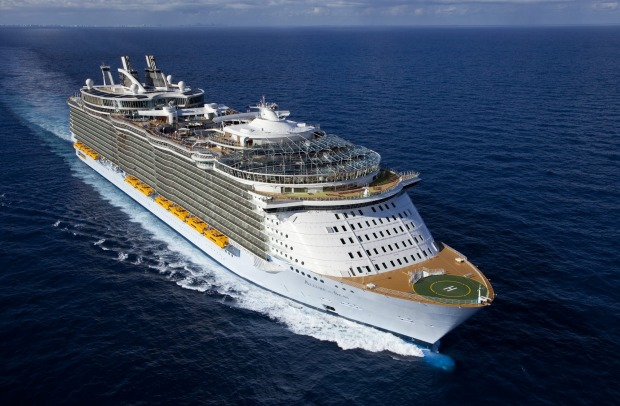World's biggest cruise ship: Allure of the Seas, Royal Caribbean International.