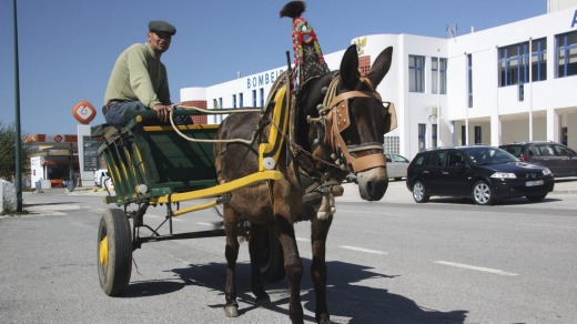Horse and cart in downtown Aljezur.