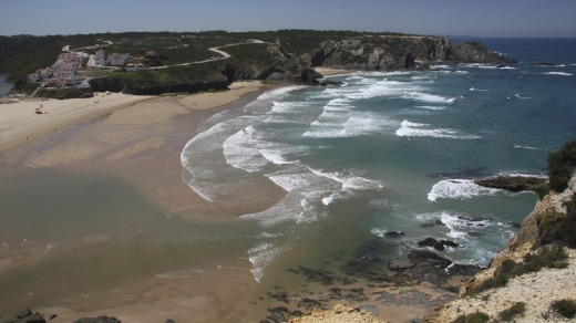 Odeceixe beach in the western Algarve.