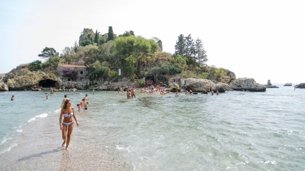 Taormina, Italy: If you could possibly pick a downside to staying in this Sicilian village, it's that the beach isn't ...