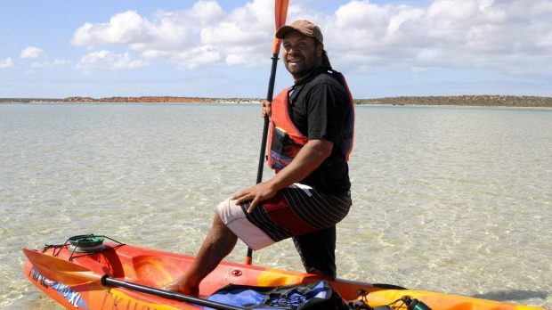 Saltwater Dreaming kayak adventure. Denham, Western Australia: Shark Bay is best known for the dolphins at Monkey Mia, ...