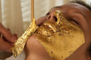 Gold allegedly contains qualities that can improve the skin.