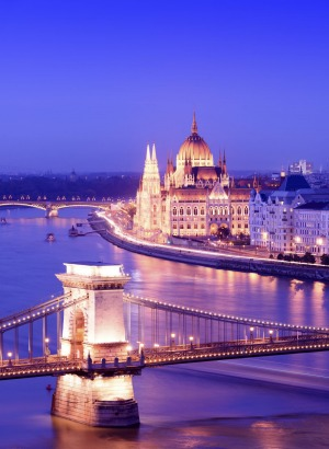 The Chain Bridge in Budapest.