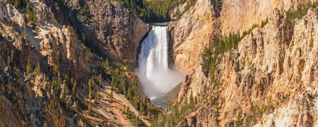 Lower Yellowstone Falls from Artist's Point in Yellowstone National Park.