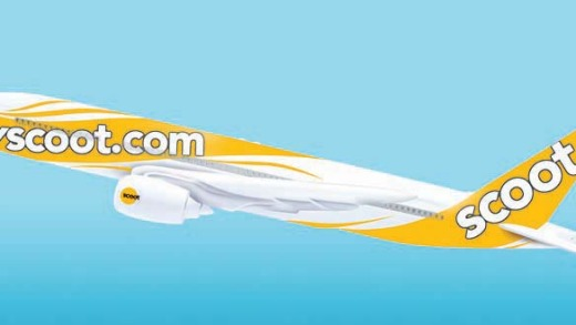 An artist's rendering of Scoot's livery.