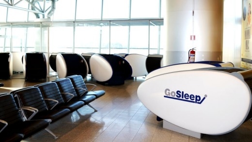 The GoSleep Pods at Helsinki International Airport are 1.8m by 0.6m capsules.