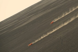 Volcanic boarding down Nicaragua's Cerro Negro is fast and furious.