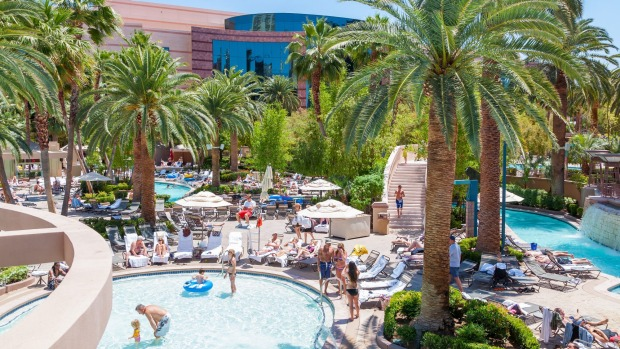 The pool at the MGM Grand.
