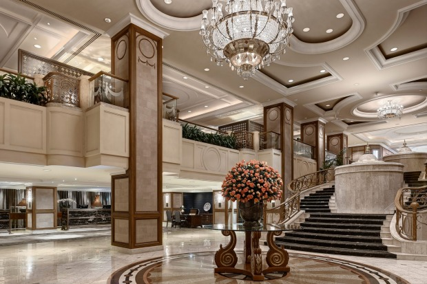 The lobby at The Langham.