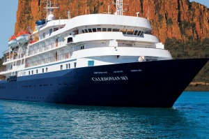 MS Caledonian Sky is 90.6 metres long and a mere 15.3 metres wide.