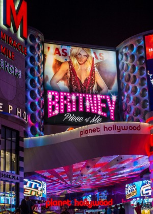 The Britney Spears show poster at Planet Hollywood Resort.