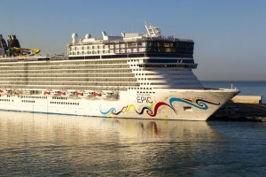 The package includes a 27-night Norwegian Epic cruise.