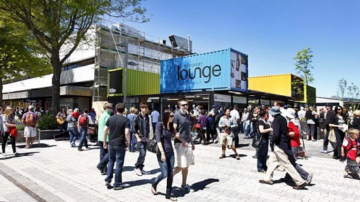 Bouncing back ... Christchurch was praised for its inventiveness in rebuilding after last year's earthquakes, as seen in ...
