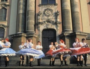 Dancers in traditional dress at Eger.