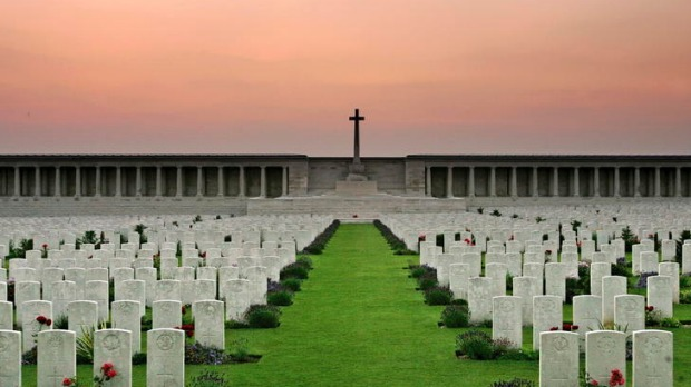Heroes at rest ... many Australian soldiers are buried at Pozieres.