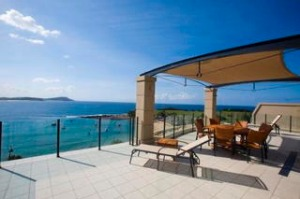 penthouse balcony and view star of the sea