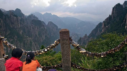 First seduce them with the views, then lock your loved one to you at China's Huangshan.