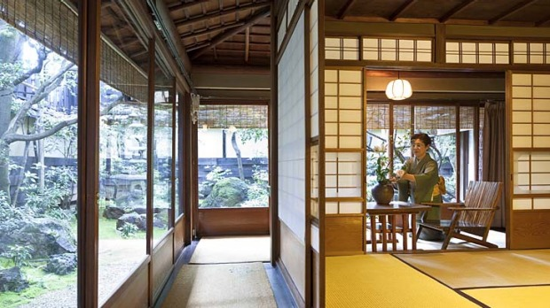 Sliding doors ... the finest ryokans offer traditional Japanese hospitality and luxury.