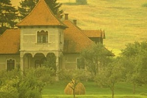 Go east ... the countryside at dawn near Brasov, Romania.