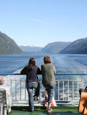 Cruising the fiords.