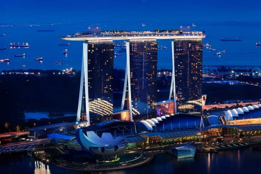 It's fair to say that Marina Bay Sands is an eye-catching building.
