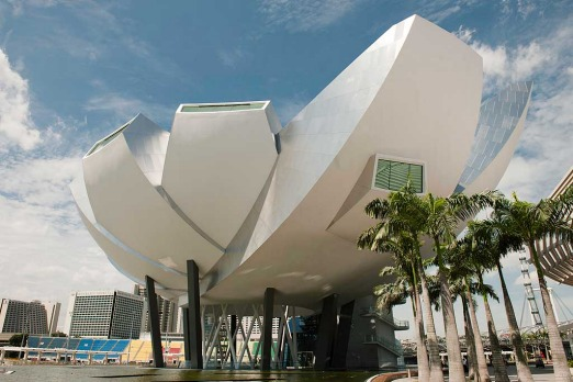 Marina Bay Sands' Art Science Museum may appear to pinch a leaf from the Sydney Opera House but it's actually modelled ...