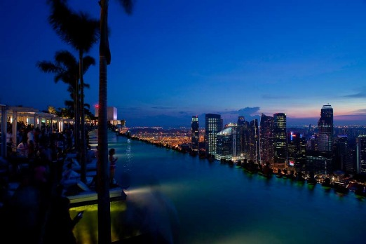 By night the world's highest infinity pool still makes for some extraordinary viewing.