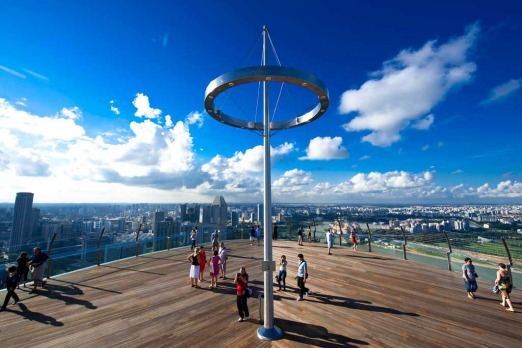 Even if you aren't staying at Marina Bay Sands, you can still enjoy the panoramic views from the obersation deck.
