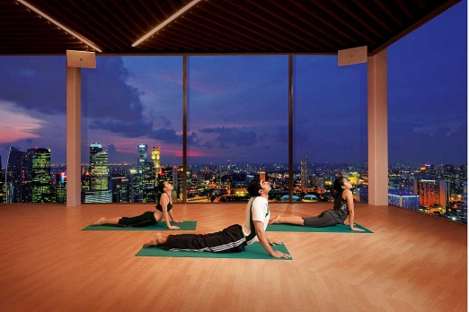 Can't beat a spot of yoga in a room with a view.
