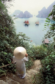 Vietnam, Halong Bay, listed as World Heritage by UNESCO.