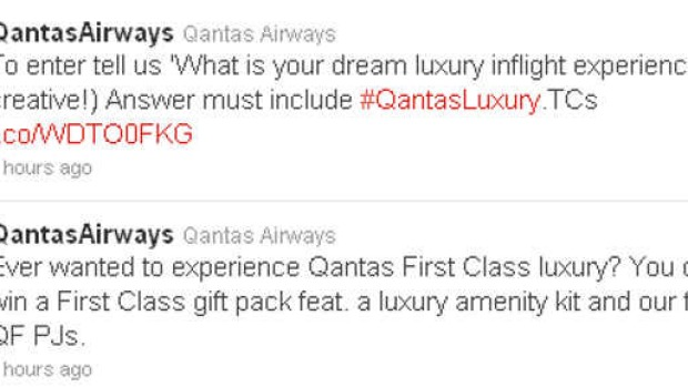 #fail? The tweets from Qantas' official Twitter account that have caused a backlash online.