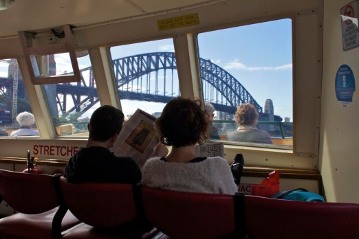 On the ferry from Circular Quay.