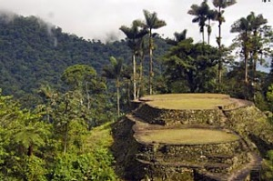 Jungle ruins ... view from the top of Colombia's Lost City.
