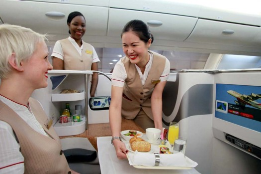 Emirates flight attendants start on a basic annual salary of about 47,000 dirhams ($A12,200), plus hourly flying pay, a ...