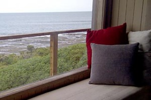 Creature comforts ... uninterrupted ocean views from the two-level Seahouse.