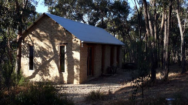 Here to stay ... the solid but elegant villa-style Mud House is set in bushland about four kilometres from Castlemaine.